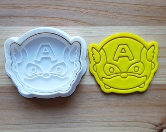 Captain America Tsum Tsum Cookie Cutter and Stamp