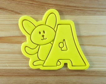 Bunny A Cookie Cutter and Stamp