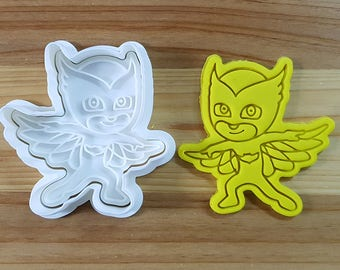 PJ Mask Owlette Cookie Cutter and Stamp