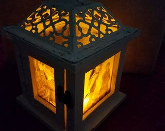 Rustic Outlander inspired indoor lantern