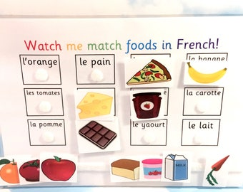 French foods learning sheet, KS1, Teaching resource, Educational toy, Homework, Visual learners, French lesson