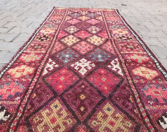 2'5''x8'8'' oushak runner rug,turkısh oushak rug,runner rug,vintage runner  rug,rug,rug runner,decorative rug,turkısh rug,oushak runner