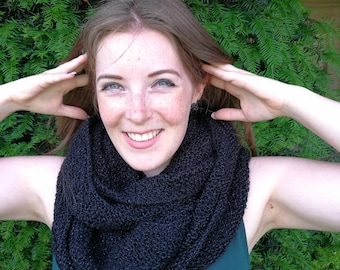 Hand Knitted Infinity scarf