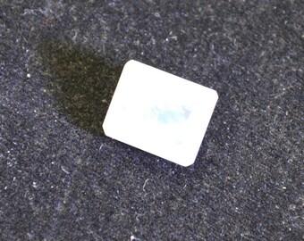 gorgeous rainbow moonstone faceted emerald 9x11 mm 1pc loose gemstones strmofcem9x11