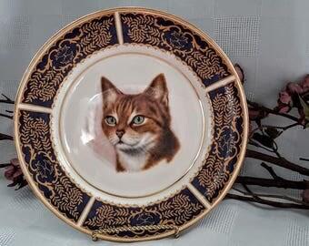 Sadler, Wellington Cat's Head Decorative Plate, Made in England