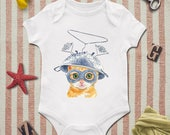 Funny cat baby onesie, Funny cat baby shower, Present for baby, Gift for baby, Baby present,  Baby gift, Baby shower gift, Animal baby