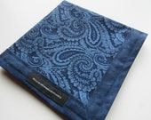 EDC Hank Blue Paisley Handmade Hank Everyday Carry Pocket Dump Hank Mens Handkerchief Gift for Him Gift for Her
