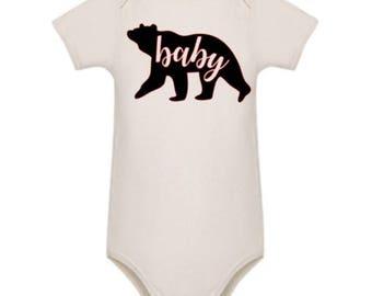 Little Baby Bear white cotton bodysuit - romper