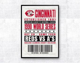 Cincinnati Reds, World Series Art, Reds Poster, World Series Poster, Big Red Machine