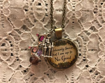Harry Potter Charm Necklace/Harry Potter Jewelry/Harry Potter Fandom/Harry Potter Pendant/Harry Potter Fan Jewelry