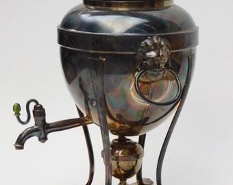 English Regency Hot Water Urn Sheffield Silver Plate