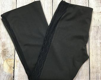 Vtg 90s Tugçe Gíyím Sheer Lace Sided Pants