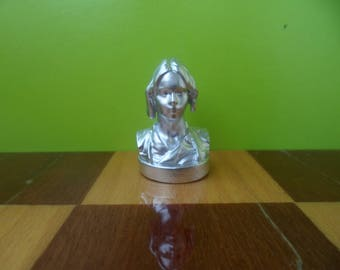 Silver chess piece Jyn Erso, Chess set Star Wars, Metal, Husband gift, mens gift, father, boyfriend gift, brother gift, toys, Felicity Jones