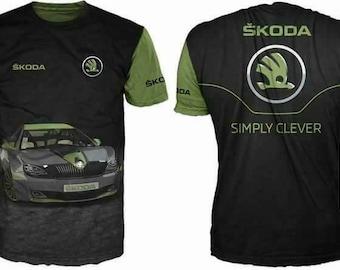 New ultramodern 3D  High Quality SKODA  Men's T-shirt