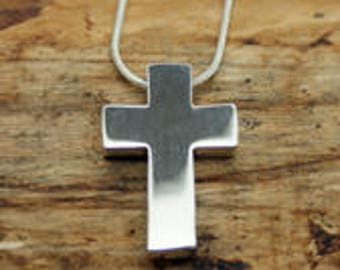 Sterling Silver Cross Pendant with Free Chain (CRP-003)
