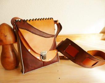 shoulder bag / Brown vintage leather bag