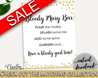 Bloody Mary Bridal Shower Bloody Mary Gold Confetti Bridal Shower Bloody Mary Bridal Shower Gold Confetti Bloody Mary Gold White party CZXE5