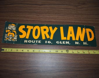 Story Land Vintage advertising card tourism roadside america New Hampshire Theme park