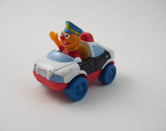 Fisher Price Sesame Street ERNIE'S POLICE CAR loose 1987
