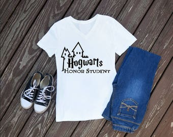 Hogwarts Honor Student Womens T-Shirt, Harry Potter Shirts, Universal Studios