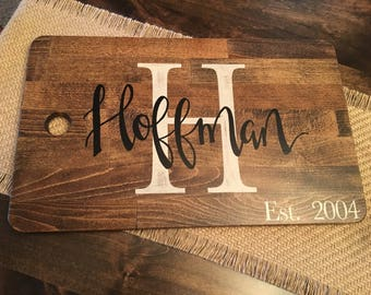 Large custom cutting board