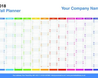 Personalised 2018 Wall Planner