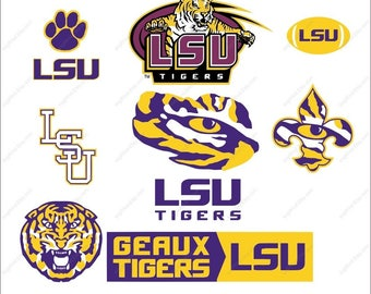 LSU Tigers SVG bundle LSU Tigers logo Tigers svg party Svg Dxf Eps Png Ai Digital File design Print Mug Shirt Decal