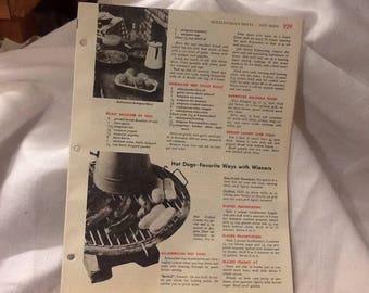 10 sheets of Vintage cookbook pages