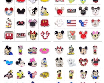 Dream Big! Pick a Disney Character Floating Charm for Living Memory and Glass Story  Mickey Mouse, Minnie, Donald, Daisy, Pluto, Goofy, More