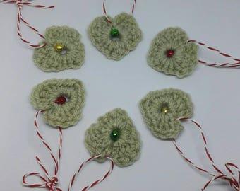 Jingle hearts Christmas tree decorations - Christmas decorations - hanging hearts - jingle bells