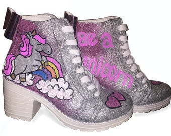 Made to order - Handpainted Unicorn boots