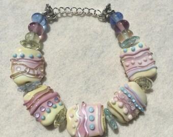 Handmade Lampwork Beaded Bracelet (6)