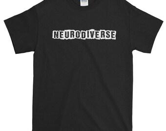 Neurodiverse Pride Unisex Short-Sleeve T-Shirt, neurodiversity, autism, slogan, words