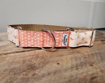 Just Peachy Greyhound Martingale Collar