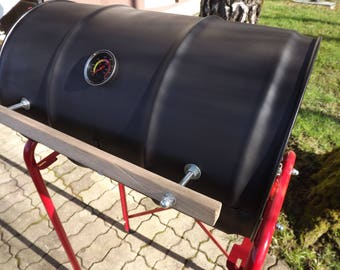 Oil Drum- Barrel Barbecue Smoker BBQ - Charcoal Oil Drum BBQ #2