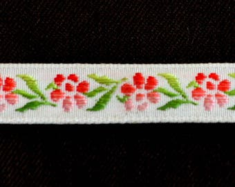 Lace Ribbon woven flowers Roses width 1.2 cm