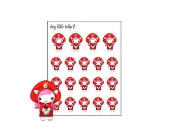"Planner Stickers Unicorn ""Red"""