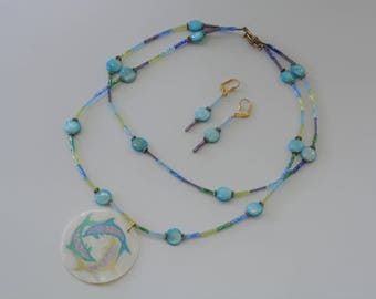 Mother of Pearl Dolphin Necklace