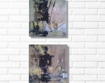 set of two paintings home decor