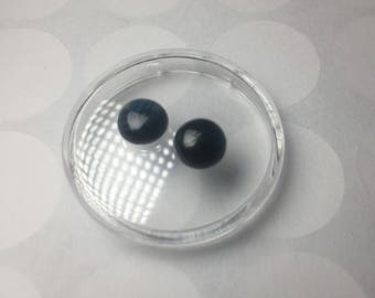 Pair of sapphire cabochons 7mm