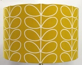Orla Kiely Linear Stem Dandelion Mustard Lampshade, Table Lamp, Pendant Shade