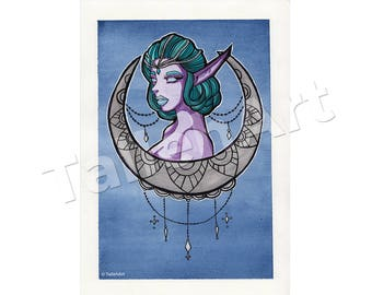 Elf Moon Original - A4