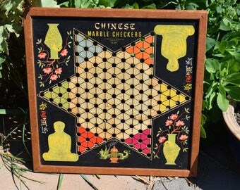 1939 Chinese Checkers Whitman Publishing Copyright 1939 No 2917, Vintage Chinese Checker Board
