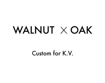 Custom Walnut End Table for Karthik