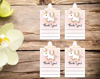 Unicorn Baby girl shower tags, baby shower favors, baby shower, favor tags, party tags, thank you tags, party favor tags, printable tags