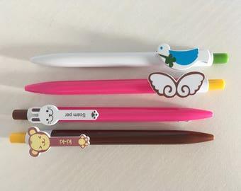 monkey pen, rabbit pen, bird pen, angel wings pen