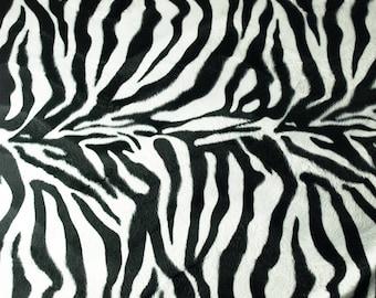 Faux fur fabric Zebra 150 cm