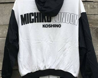 Rare vintage michiko london spell out 90s jacket