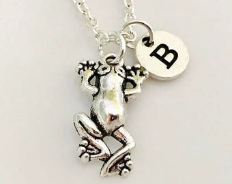 Frog necklace, Frog jewelry, Toad necklace, amphibian necklace, Frog jewelry, silver Frog necklace, Personalized necklace