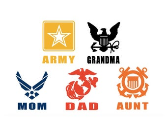 Military Branch & Relative Decal